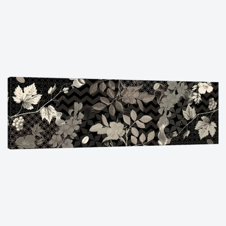 Flowers & Ornaments (Black&White) Canvas Print #FLPN81} by 5by5collective Canvas Artwork