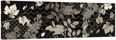 Flowers & Ornaments (Black&White) Canvas Print #FLPN81