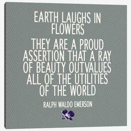 Flowers Are the Earth's Laughter Canvas Print #FLPN88} by 5by5collective Canvas Wall Art