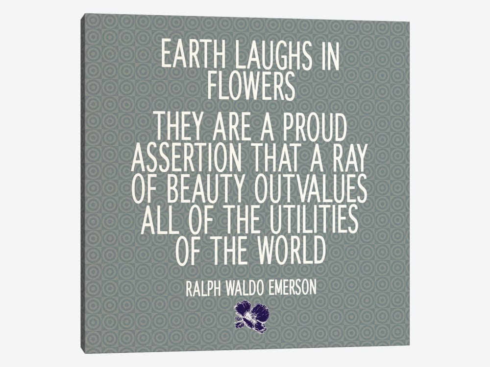 Flowers Are the Earth's Laughter by 5by5collective 1-piece Canvas Print