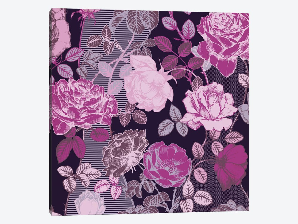 Flowers - Shades of Pink by 5by5collective 1-piece Canvas Artwork