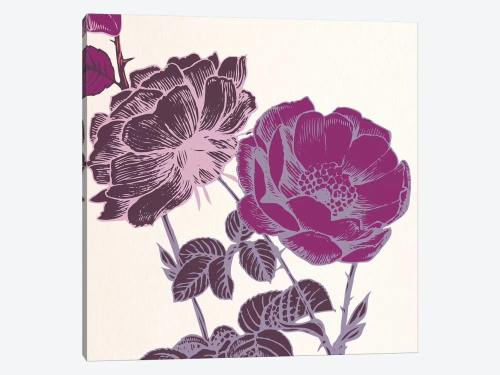 Pink Flowers by 5by5collective 1-piece Art Print