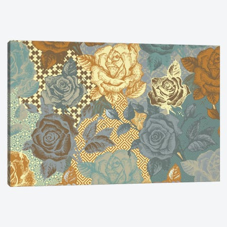 Roses & Ornaments Canvas Print #FLPN93} by 5by5collective Canvas Art Print