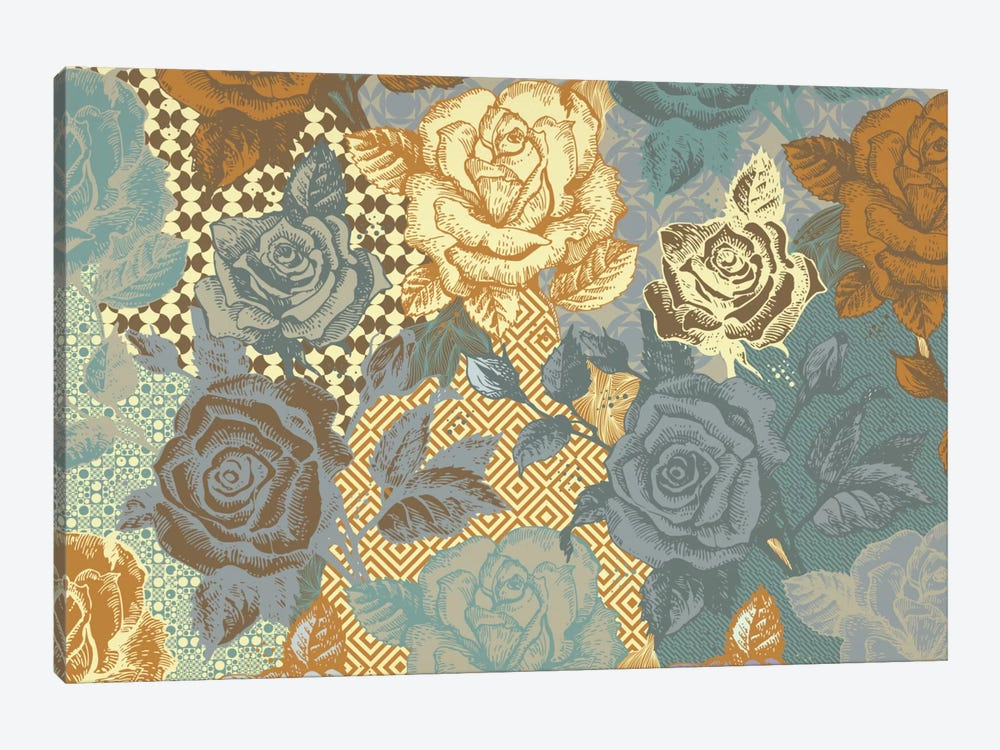 Roses & Ornaments by 5by5collective 1-piece Art Print