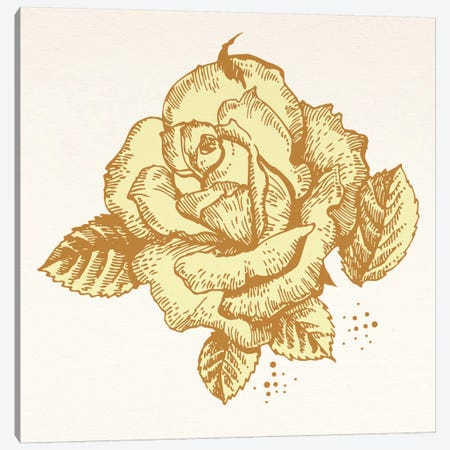 Yellow Rose Canvas Print #FLPN94} by 5by5collective Canvas Artwork