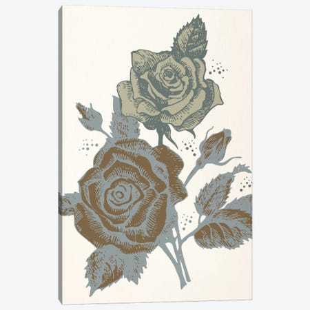 Roses (Brown&Vinous) Canvas Print #FLPN95} by 5by5collective Canvas Art