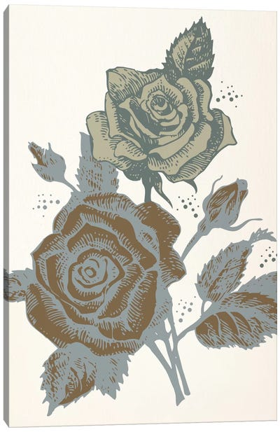 Roses (Brown&Vinous) Canvas Art Print