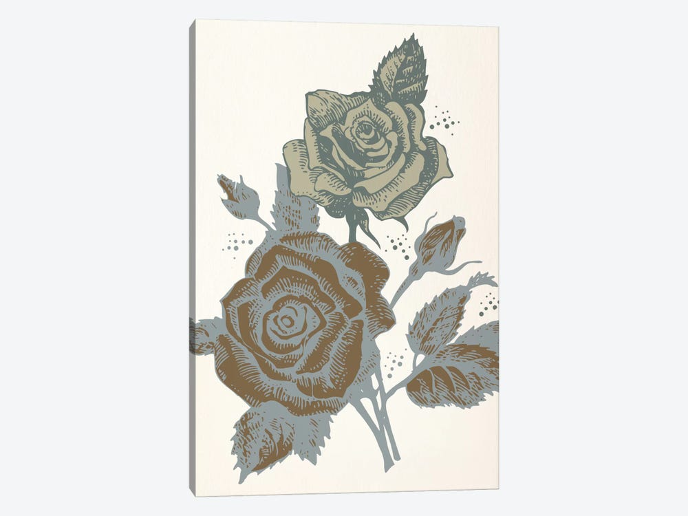 Roses (Brown&Vinous) by 5by5collective 1-piece Canvas Art Print
