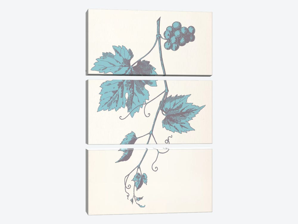 Rowan Strig (Blue) 3-piece Canvas Wall Art