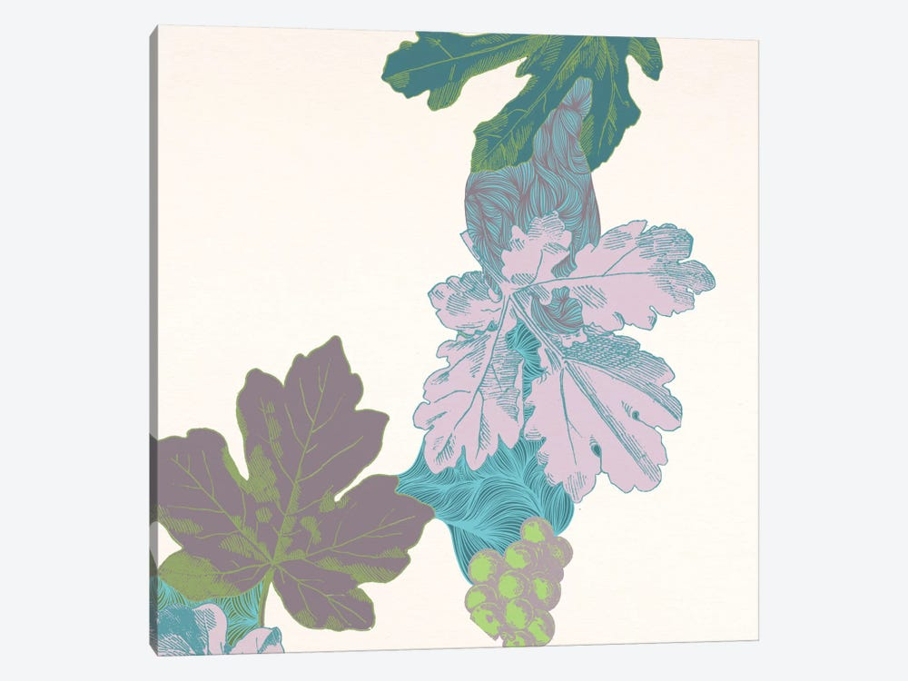 Leaves & Berries by 5by5collective 1-piece Canvas Art Print