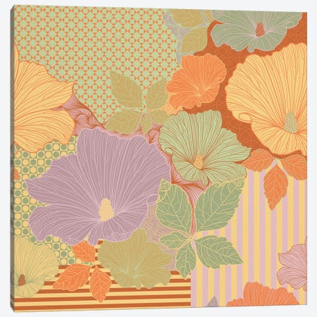 Flower Pattern (Multi-Color) Canvas Print #FLPN9} by 5by5collective Canvas Print