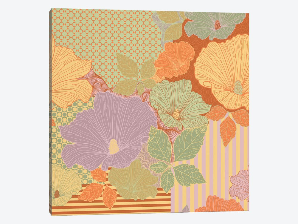 Flower Pattern (Multi-Color) by 5by5collective 1-piece Art Print