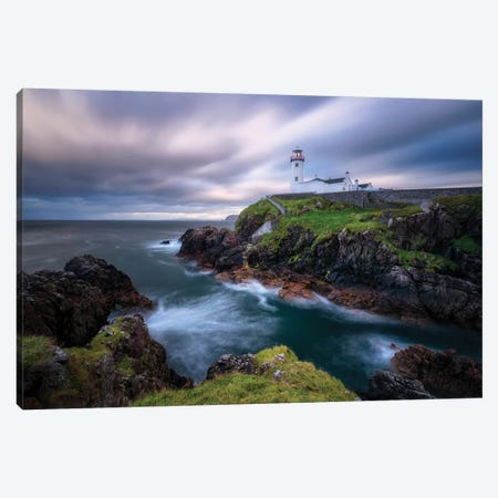 Fanad Head Lighthouse Canvas Print #FLS3} by Daniel Fleischhacker Canvas Print