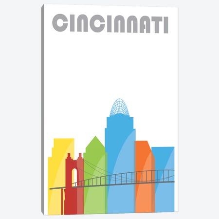 Cincinnati, Whiter Canvas Print #FLY11} by Fly Graphics Canvas Art Print