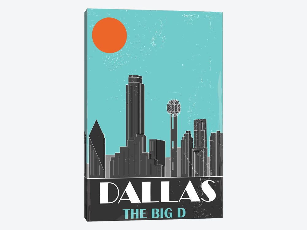 Dallas, Sky Blue by Fly Graphics 1-piece Canvas Art Print