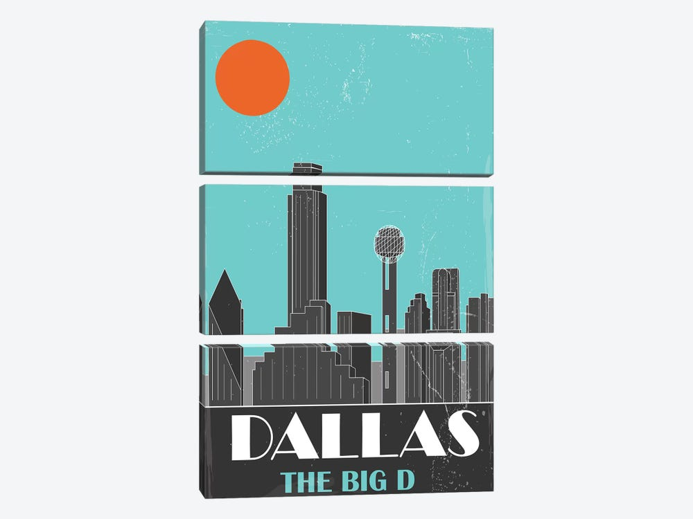 Dallas, Sky Blue by Fly Graphics 3-piece Art Print