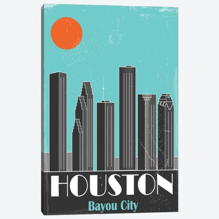 Houston Canvas Print #FLY16} by Fly Graphics Canvas Wall Art