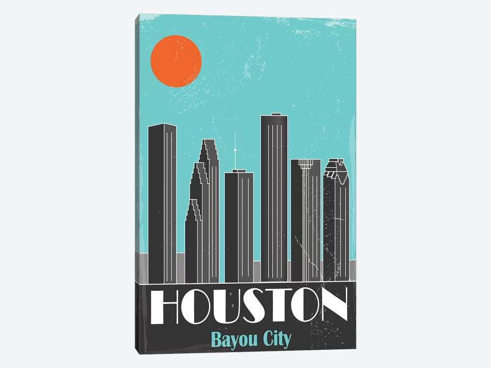 Houston by Fly Graphics 1-piece Canvas Art Print