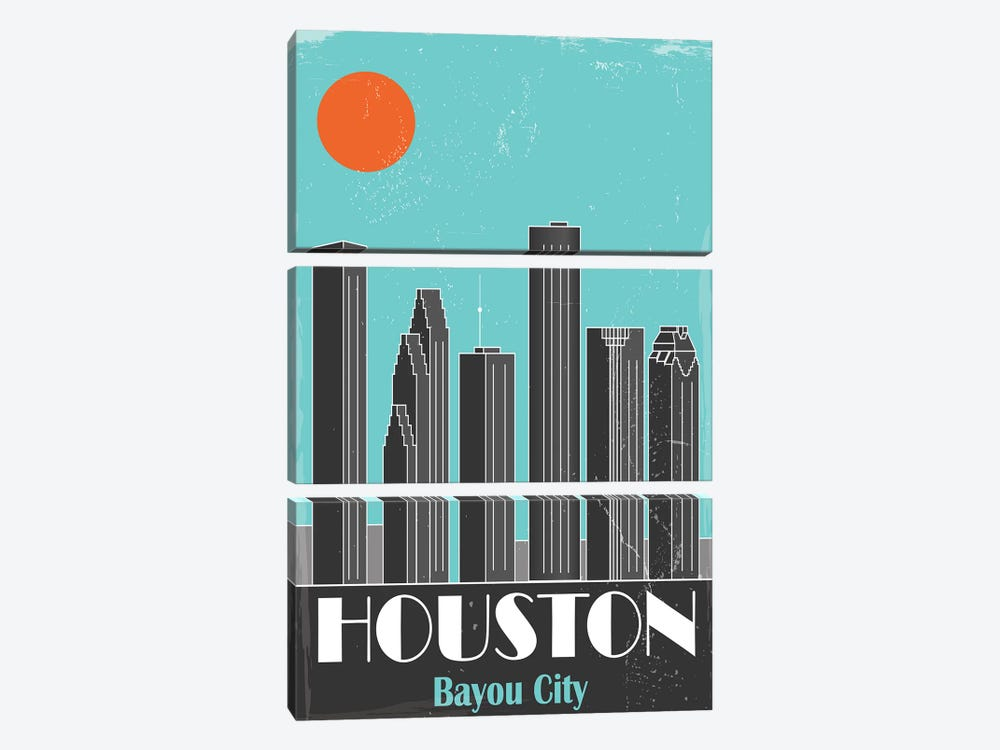 Houston by Fly Graphics 3-piece Canvas Print