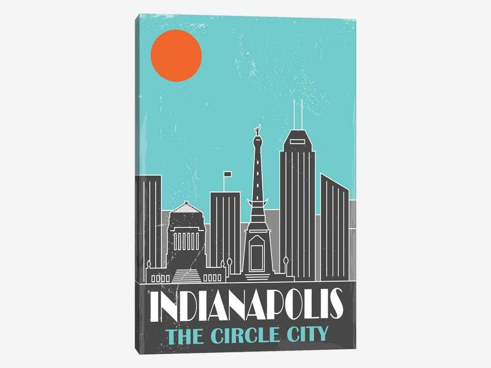 Indianapolis, Sky Blue by Fly Graphics 1-piece Canvas Art Print