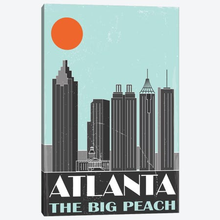 Atlanta Canvas Print #FLY1} by Fly Graphics Art Print