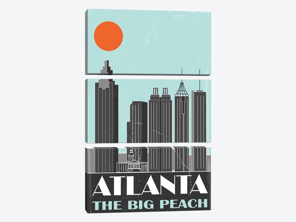 Atlanta by Fly Graphics 3-piece Canvas Print