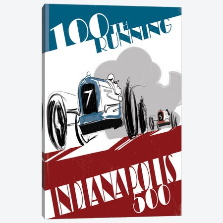 Indy 500 Canvas Print #FLY21} by Fly Graphics Canvas Wall Art