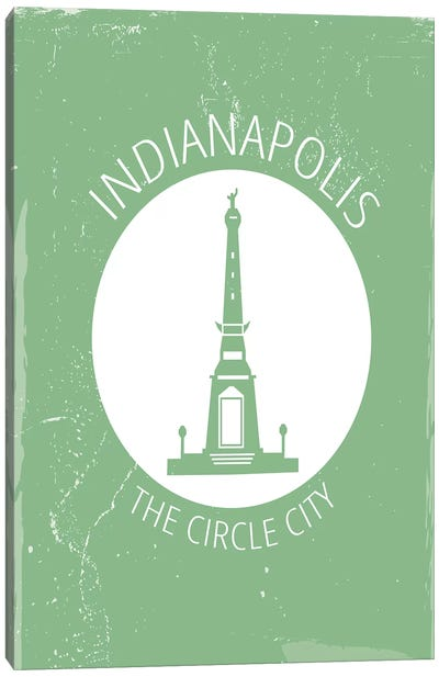 Indy, Circle Canvas Art Print