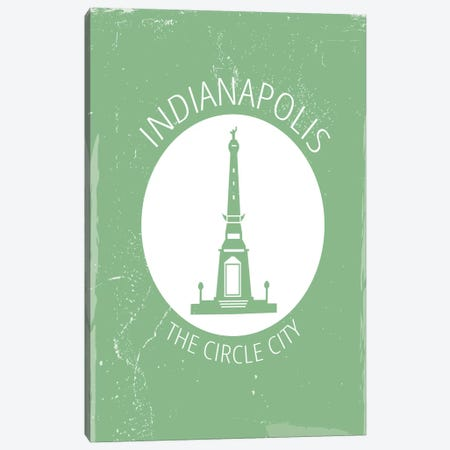 Indy, Circle Canvas Print #FLY22} by Fly Graphics Canvas Wall Art