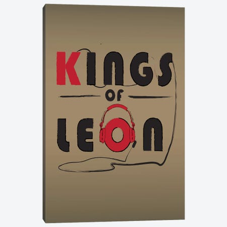 Kings Of Leon Canvas Print #FLY23} by Fly Graphics Canvas Wall Art