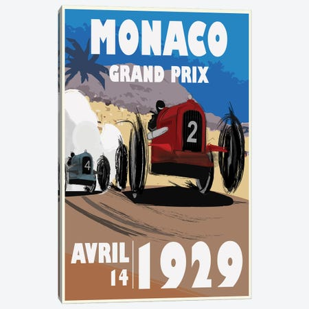 Monaco Canvas Print #FLY24} by Fly Graphics Canvas Print