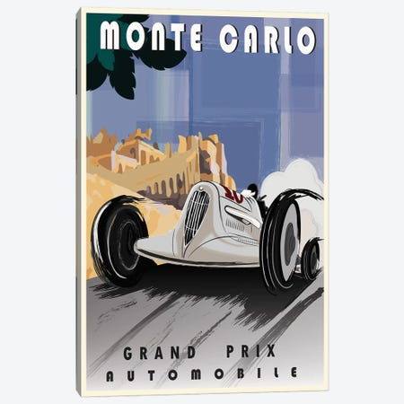 Monte Carlo Canvas Print #FLY25} by Fly Graphics Art Print