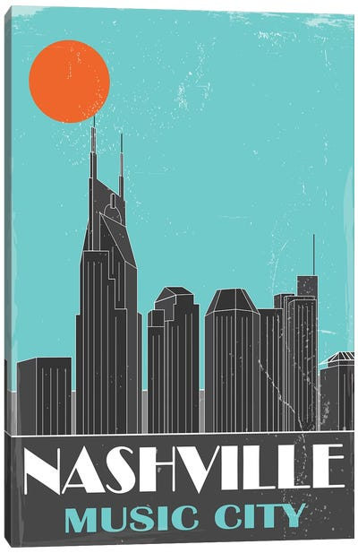 Nashville, Sky Blue Canvas Art Print
