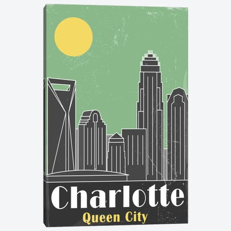 Charlotte, Green Canvas Print #FLY2} by Fly Graphics Art Print