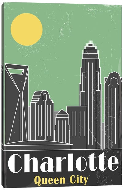 Charlotte, Green Canvas Art Print
