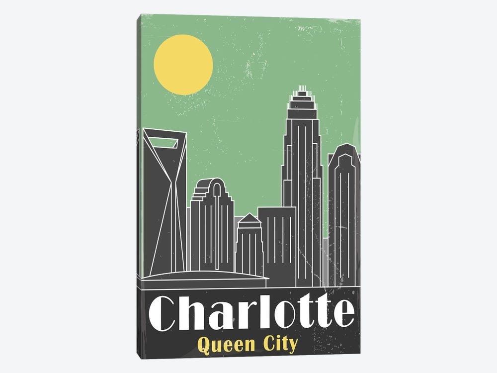 Charlotte, Green by Fly Graphics 1-piece Canvas Wall Art