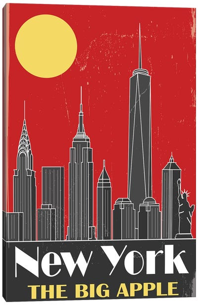 New York, Red Canvas Art Print