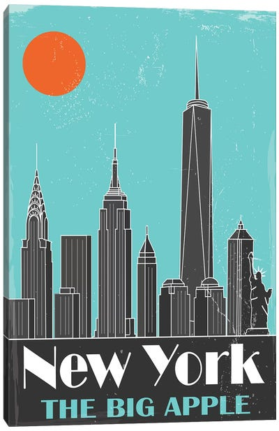 New York, Sky Blue Canvas Art Print