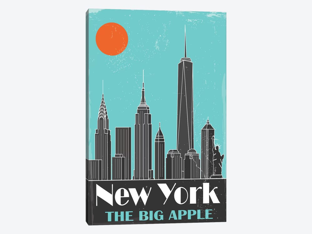 New York, Sky Blue by Fly Graphics 1-piece Canvas Artwork