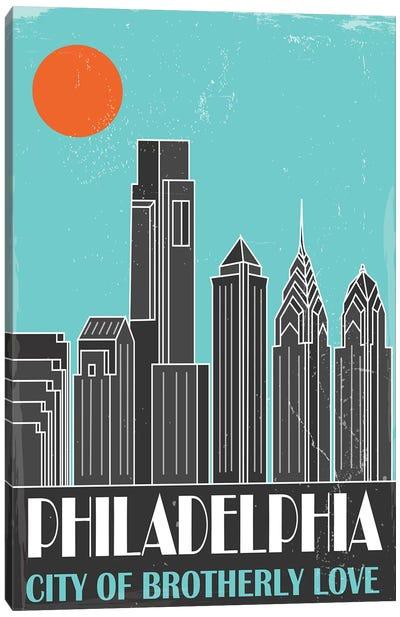 Philadelphia, Sky Blue Canvas Art Print