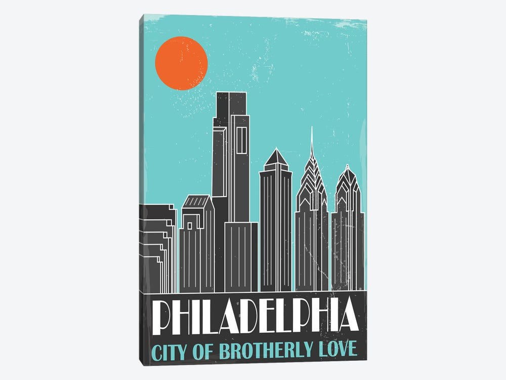 Philadelphia, Sky Blue by Fly Graphics 1-piece Canvas Art Print