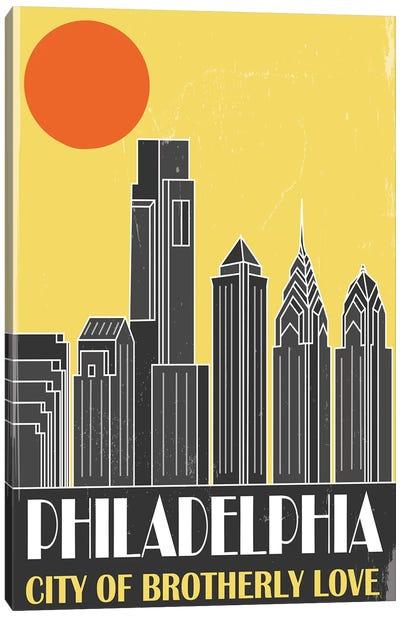 Philadelphia, Yellow Canvas Art Print