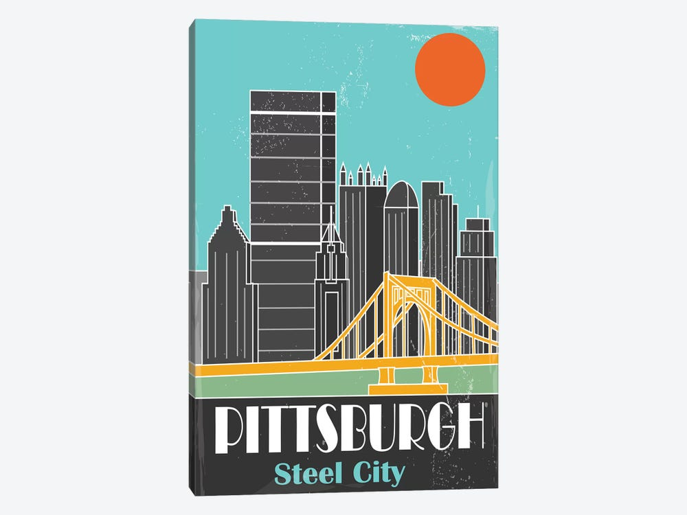 Pittsburgh, Sky Blue I by Fly Graphics 1-piece Canvas Artwork