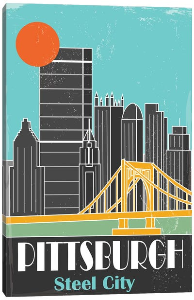 Pittsburgh, Sky Blue II Canvas Art Print