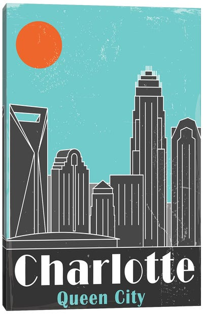 Charlotte, Sky Blue Canvas Art Print