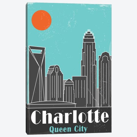 Charlotte, Sky Blue Canvas Print #FLY3} by Fly Graphics Art Print