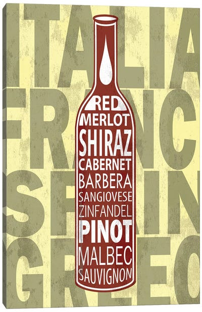 Red Wines Canvas Art Print