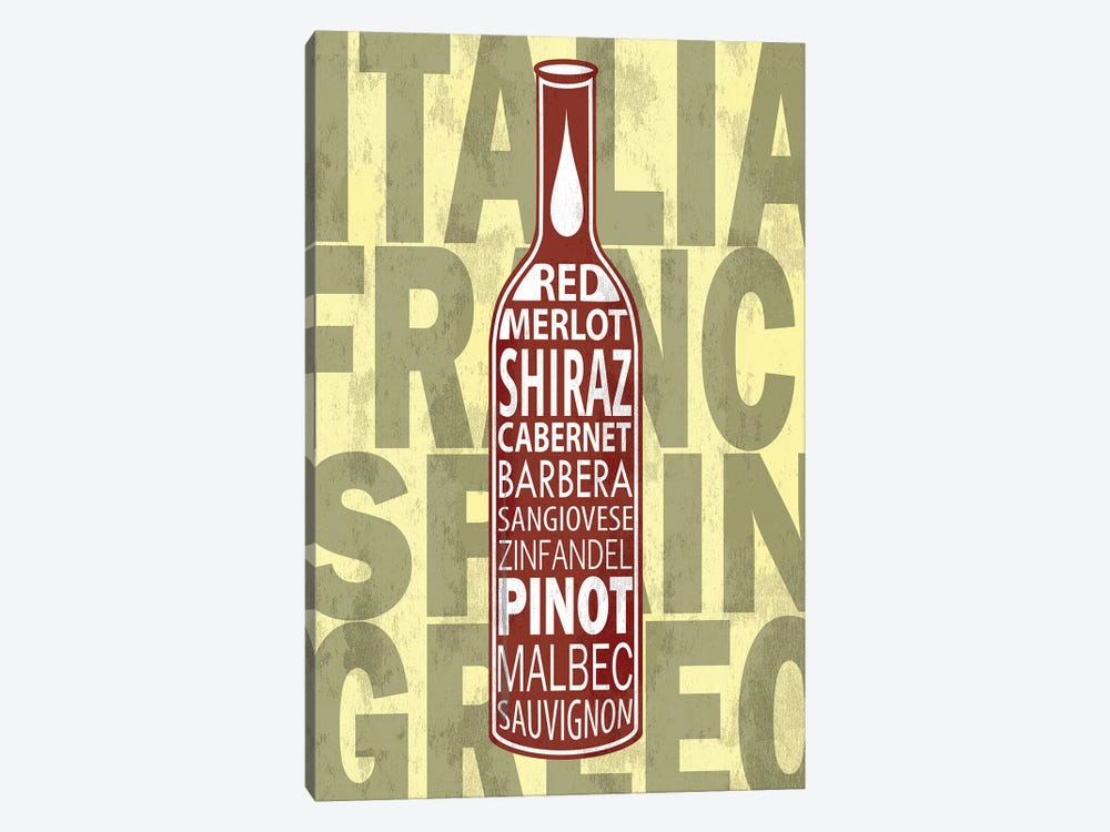 Red Wines by Fly Graphics 1-piece Canvas Art