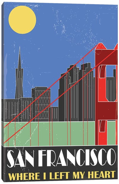 San Francisco, Sky Blue Canvas Art Print