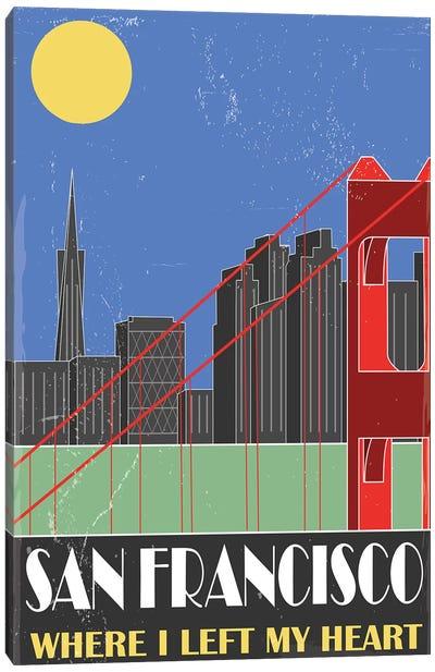 San Francisco, Sky Blue Canvas Art Print